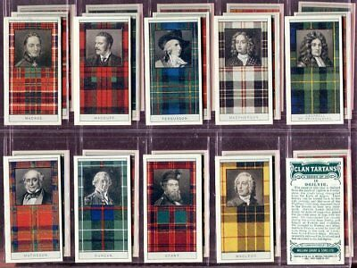 Trade Card Set, William Grant, CLAN TARTANS, Scotland, Cameron etc