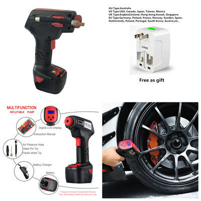Emergency Rechargeable Handheld Car Tire Inflatable Pump Wireless Air Pump+Plug