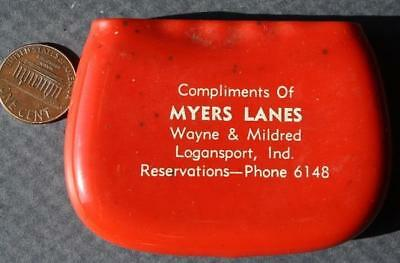 1950-60s Era Logansport,Indiana Myers Lanes Bowling Alley coin purse/holder-COOL
