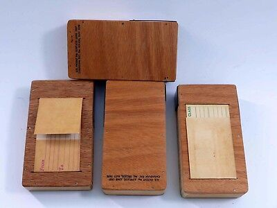 4 Wooden mailers for Stereo Realist Slides
