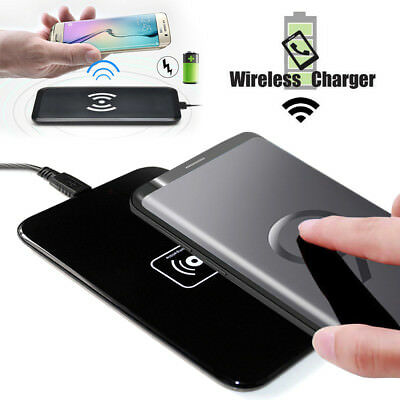 For Samsung Galaxy S9/Plus Portable Wireless Fast Charger Charging Pad Mat Dock