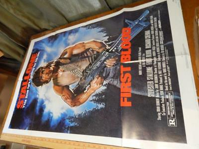 """First Blood, Original 1 Sheet Movie Posters, 41x27"""", 820158, Folded!"""