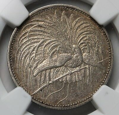1894 German New Guinea Mark KM# 5 Silver Coin 33k Minted NGC AU58 RARE