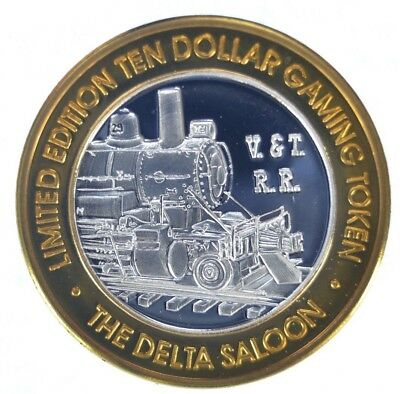Virginia City The Delta Saloon $10 Silver Gaming Strike (ss1.50)