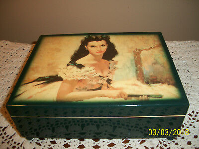 San Francisco Music Box Gone With the Wind Lacquer Jewelry Box Musical Scarlett
