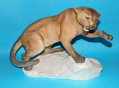 Beswick  figurine ' Puma on rock ' #1702 A Gredington 1st Quality