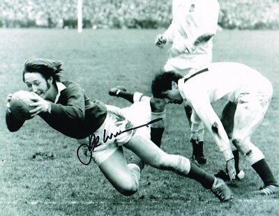 2.99 Sale J P R Williams Welsh Rugby Legend Authentic Signed 10 X 8 Photo Coa