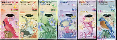 Bermuda Set 6 Pcs 2 5 10 20 50 100 Dollars A/1 & Onion Prefix Unc