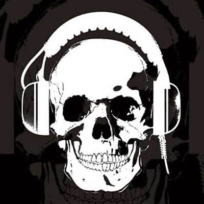 Skull - Headphones Sticker PVC Aufkleber