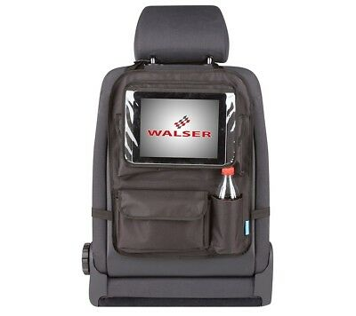 Rear Seat Bag + Detachable Tablet Holder Black Organizer Rückenlehnentas Che