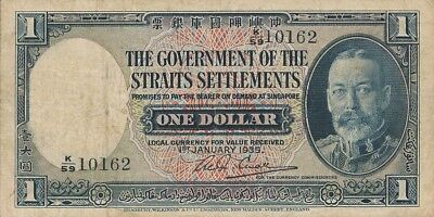The Government of the Straits Settlements  $1 1935   Good VF