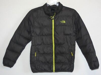 The NORTH FACE ANDES 550 DOWN Puffer Jacket Gray/Green Boys L (14-16) Packable!