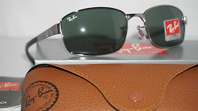 a3fdf49b70b25 Ray Ban New Authentic Aviator Gunmetal Green G-15 Classic RB3413 004 59 135
