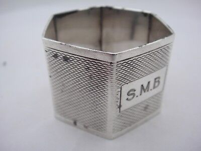 Lovely Vintage Hallmarked Silver Napkin Ring by Viners of Sheffield