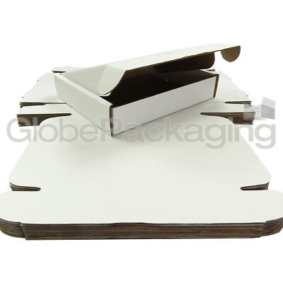 "10 x White Postal Mailing Gift Shipping Cartons Boxes 250x210x50mm (10x8x2"")"