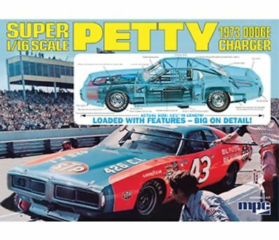 Richard Petty Stock Car Charger re-issue 1/16 scale skill 3 MPC model kit#767