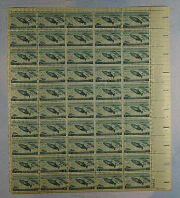 Us Scott 1079 Pane Of 50 Wildlife Conservation Stamps 3 Cent Face Mnh
