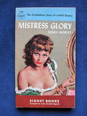 MISTRESS GLORY - SIGNED by SUSAN MORLEY to Her Publisher, 1st Paperback Edition