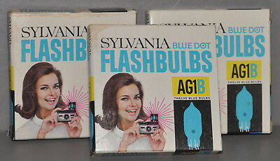 Three Dozen (36) AG1B Flash Bulbs in Original Boxes