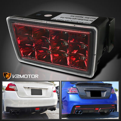 For 2011-2018 Subaru WRX RED LED Rear Fog Light 3RD Brake Tail Lamp Replacement
