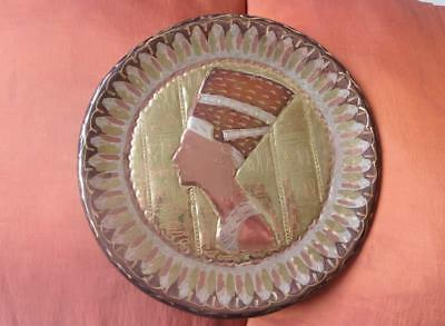 Solid Handmade Copper/Brass Wall Plate/Plaque of Ancient Queen NEFERTITI Mask