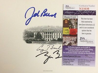 George W Bush George H W Bush Jeb Bush JSA AUTHENTIC SIGNED White House Print