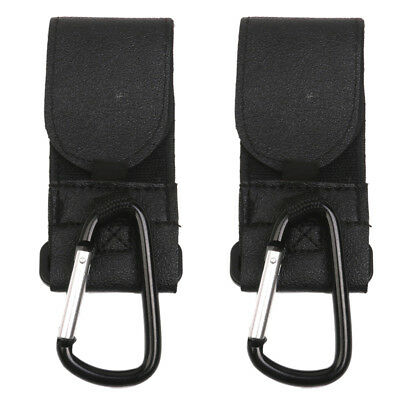2x Shopping Bag Hooks For Pram Pushchair Stroller Clips Large Hand Carry