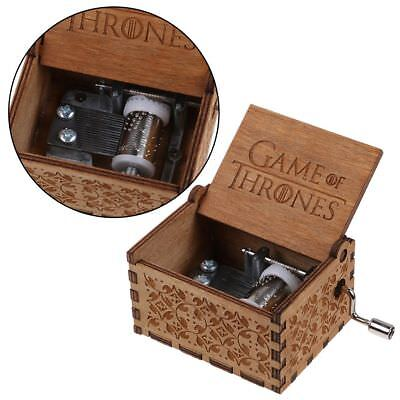 Game of Thrones-Engraved Wooden Music Box interesting Kid Toys Xmas Gifts US