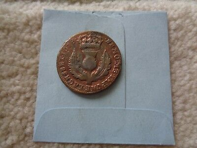 1678 SCOTLAND Great Britain 6 Pence coin Scarce