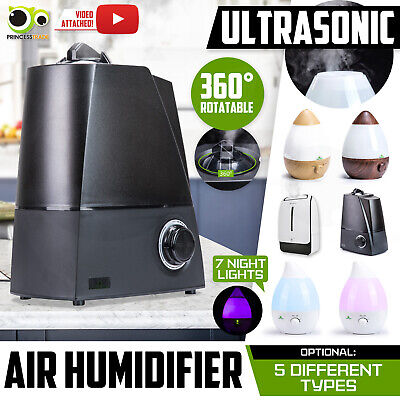 2.3 3.4 6L Air Humidifier Ultrasonic Cool Mist Steam Nebuliser Purifier Diffuser
