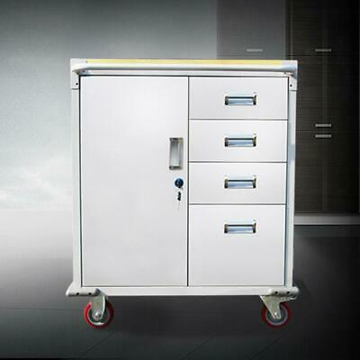 Rolling Storage Cabinet Chest Cart Garage Toolbox with 4 Drawers/ Rubber Wheels
