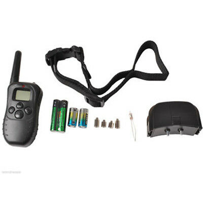 Pet Dogs Remote Training Collar Electric LCD 100LV Shock Anti Bark & Battery US