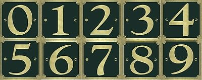"""Self-Adhesive Gold on Black Door House Numbers 0-9 Available Sticker Cheap 3"""""""