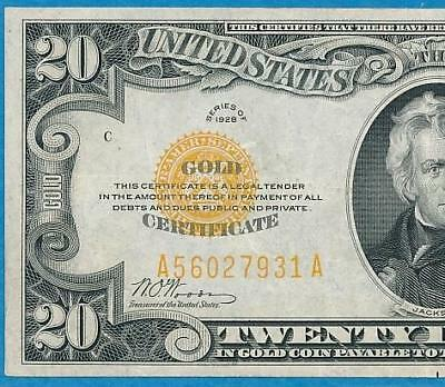 $20. 1928 Gold Seal Gold Certificate Beautiful Lightly Circulated  Xf