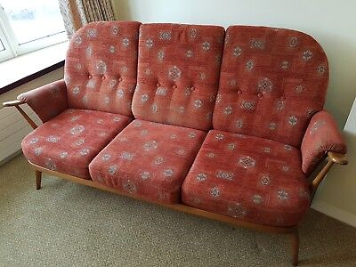 Vintage Ercol Princess Range 3 Seater Sofa / Settee Collection Only