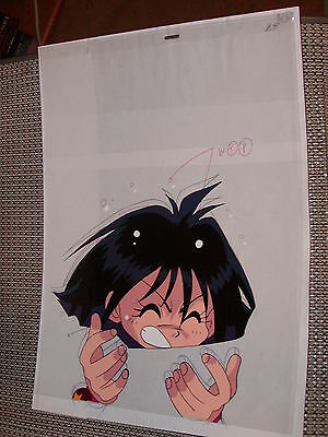 Slayers Production Anime PAN Cel - Amelia being held by Vrumigan + Sketch