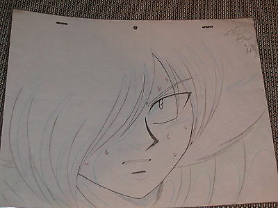 Slayers Production Anime PAN Cel Sketch (Drawing) - Zelgadis as HUMAN - RARE!!