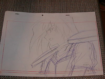Slayers Revolution Production Anime PAN Cel Sketch (Drawing) - Gourry - RARE