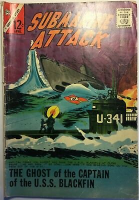 SUBMARINE ATTACK #49 (Charlton, 1965) WWII, Ghost of Captain of U.S.S. Blackfin