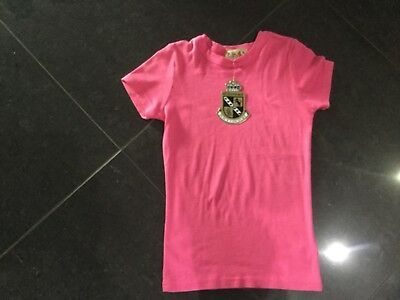 NWT Juicy Couture New & Genuine Pink Short Sleeved Cotton T-Shirt Girls Age 10