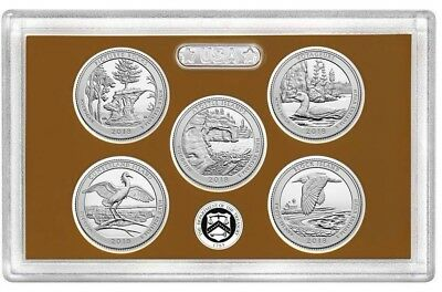 2018 S National Park Quarters Proof Set Clad No Box or COA ships next day