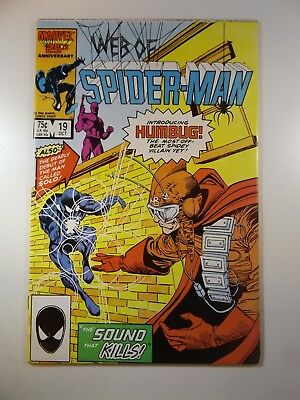 Web of Spider-man #19 1st Appearance of Humbug and Solo!! Beautiful NM-!!