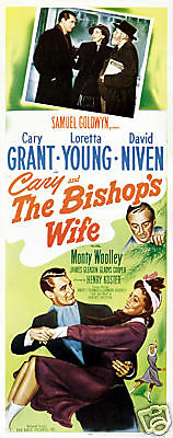 The bishop's wife Cary Grant vintage movie poster print