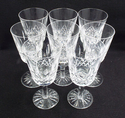"""Waterford Crystal 8 Lismore Water Goblets, 6 7/8"""""""