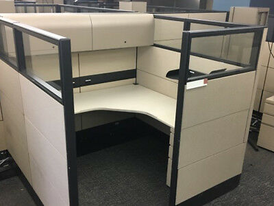 Used Office Cubicles, Knoll Reff 6x6 Cubicles