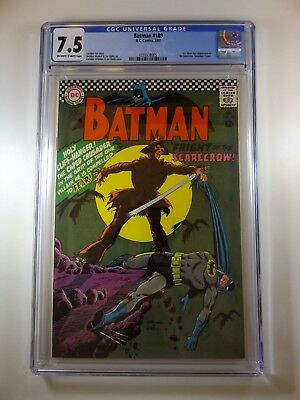 Batman #189 CGC Certified 7.5 1st Silver Age Scarecrow!! Awesome Book!!!