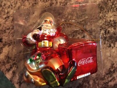 Coke Brand Blown Glass Ornament Issue 2001 - 1941 Thirst Asks for Nothing More