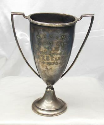 Antique dated 1930 Best Cat US Made Silver Plate Trophy loving  Cup