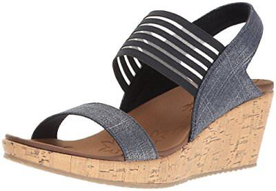 3e0fe9e5ac5c Skechers Cali Womens Beverlee Smitten Kitten Wedge Sandal- Select SZ Color.