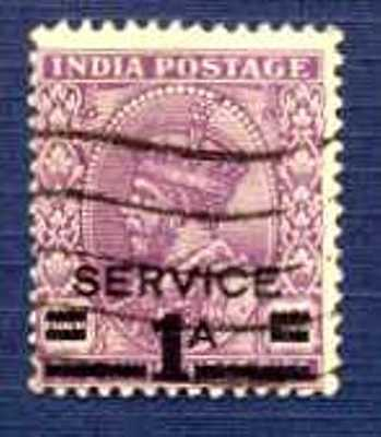 "INDIA 1939-Sc#O104 ""SERVICE 1a"" on 1a3p King George V Official-USED"